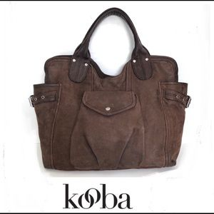 KOOBA Campbell Brown Leather Handbag Tote